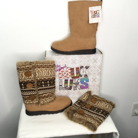 Muk Luks Boots Removeable Sweater